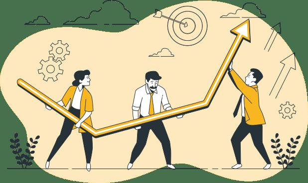Crecimiento medio de una startup